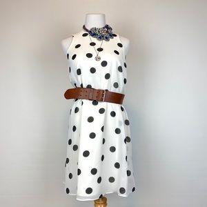 Ann Taylor White Polka Dot Dress